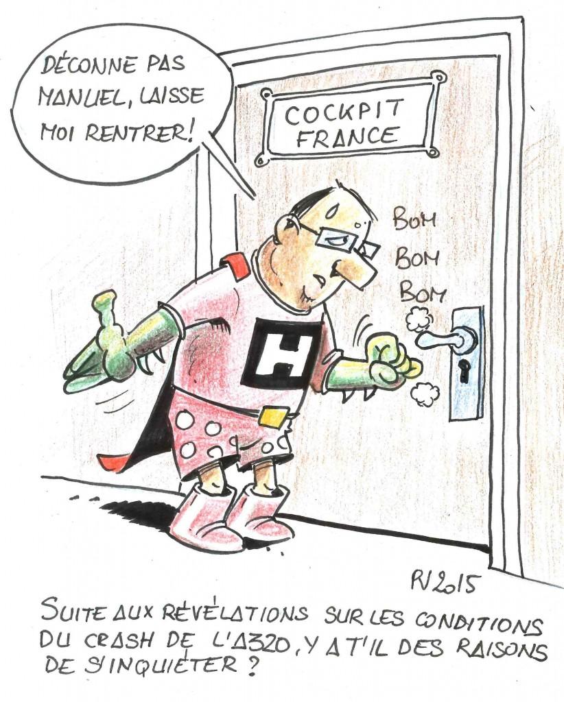 Hollande et Valls sont dans un avion...